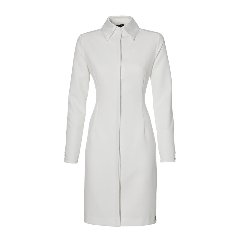 THE COLLAR DRESS - off white