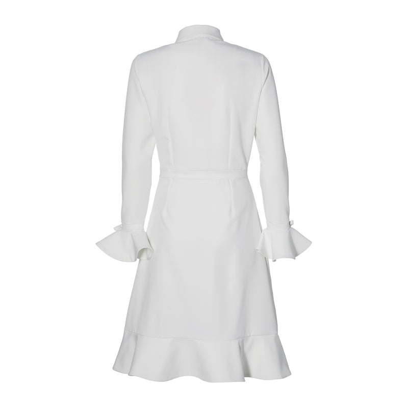 THE DRESS WITH BOWS- off white