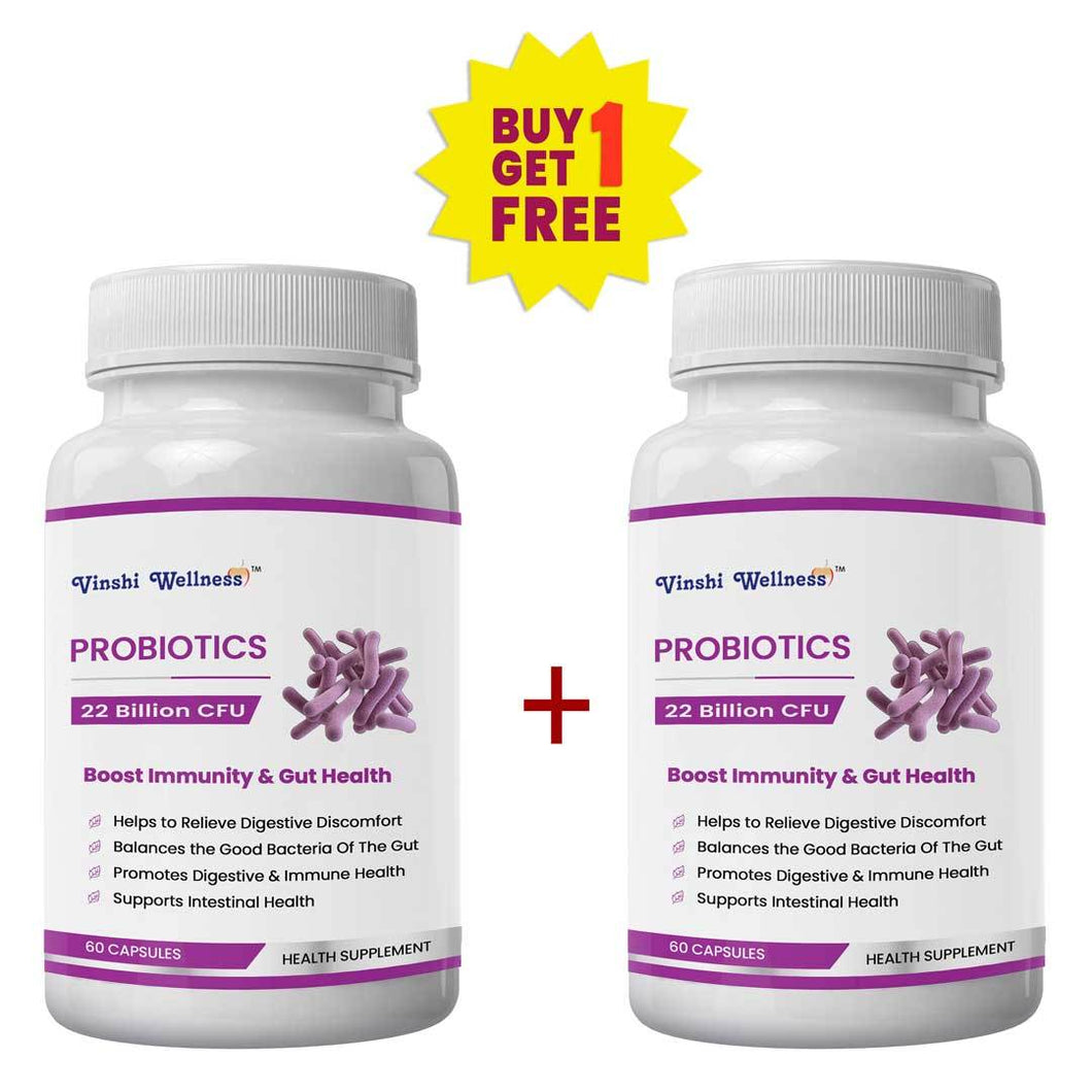 Probiotics (22 Billion CFU) - Enhance Immunity & Gut Health - Buy 1 Get 1 Free