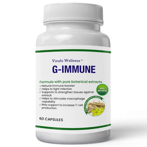 G- Immune for Natural Immune Boosting & Fights Infections - 60 Capsules