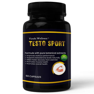 Testosterone Sport for Energy Boosting & Stamina - 60 Capsules