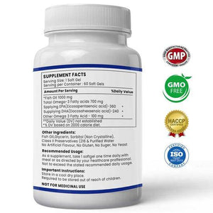 Ultra Omega 3 - Fish Oil Capsules | Buy 1 Get 1 Free (2 Months Course)