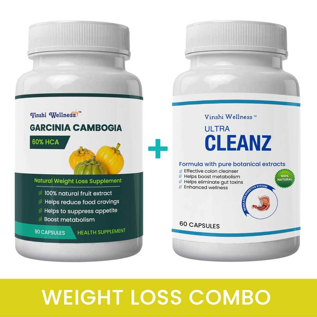 Ultimate Weight Loss Combo | Garcinia Cambogia 1 Pack & Ultracleanz 1 Pack