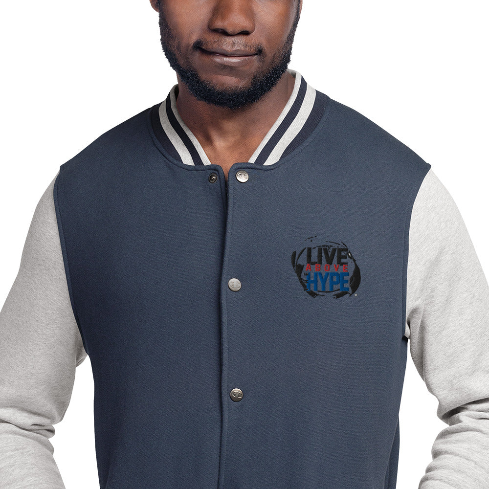Signature Live Above the Hype Embroidered Champion Bomber Jacket