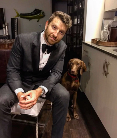 Brett Eldredge and Edgar,  Le Pet Luxe, Celebrities and their pets