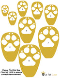 Le Pet Luxe Paw Chart Size for Dogs