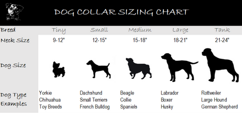 Seek Adventure Collar Size Chart