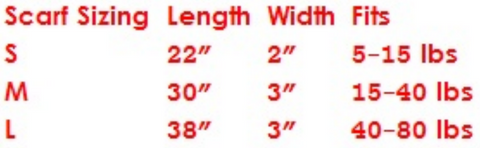 Scarf Sizing Chart, Le Pet Luxe