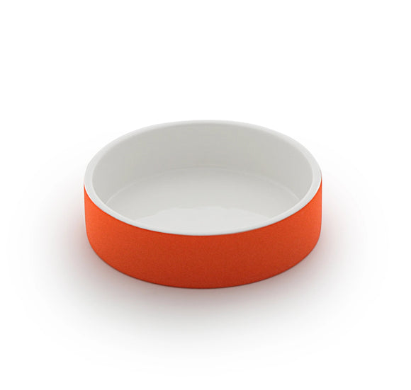 Naturally Cooling Dog Water Bowl ~ Tangerine - Le Pet Luxe