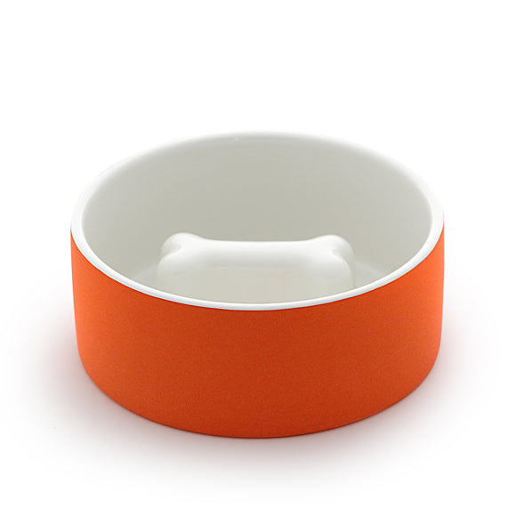 Slow Feeder Dog Food Bowl ~ Tangerine - Le Pet Luxe