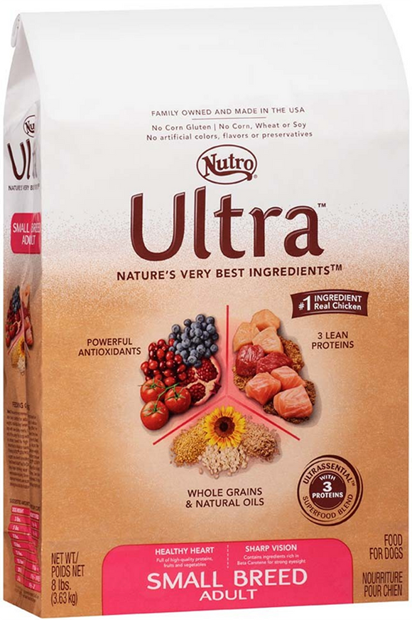NUTRO ULTRA Small Breed Adult Dry Dog Food 4 Pounds