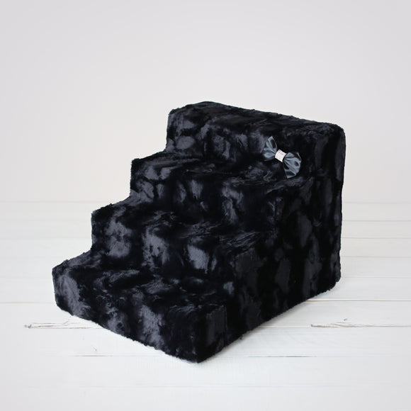 Luxury Pet Stairs - Black Diamond - Le Pet Luxe