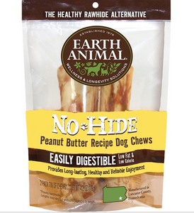 Earth Animal No Hide Peanut Butter Dog Chew Treats - le-pet-luxe