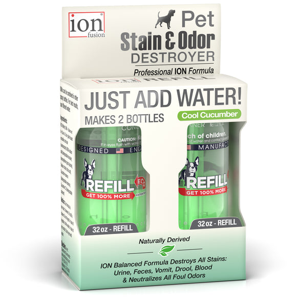 Refill Pack ~  Pet Stain & Odor Destroyer ~ makes 64 oz. - Le Pet Luxe