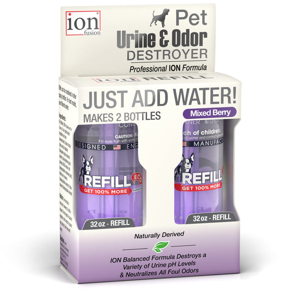 Refill Pack ~  Pet Urine & Odor Destroyer ~ makes 64 oz. - Le Pet Luxe