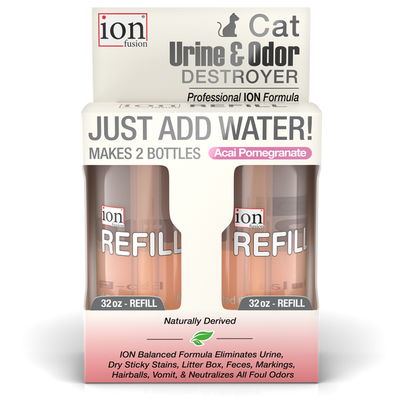 Refill Pack ~  Cat Urine & Odor Destroyer ~ makes 64 oz. - Le Pet Luxe