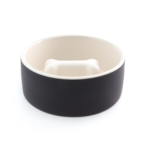 Slow Feeder Dog Food Bowl ~ Black - Le Pet Luxe