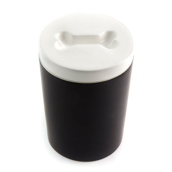 Fresh Sealed Ceramic Treat Jar - Black - Le Pet Luxe