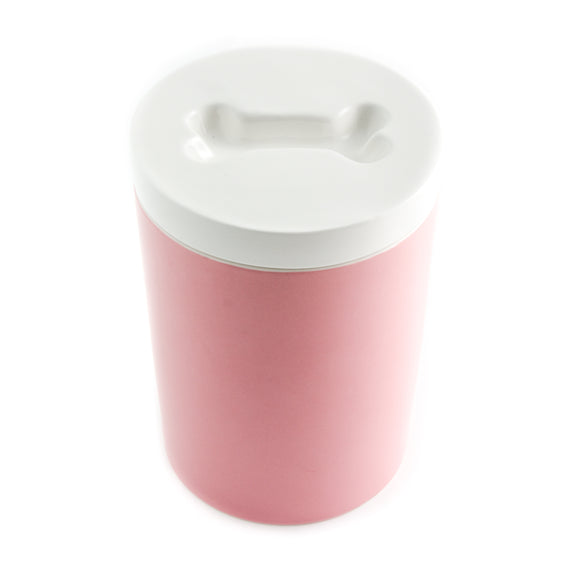Fresh Sealed Ceramic Treat Jar - Pink - le-pet-luxe