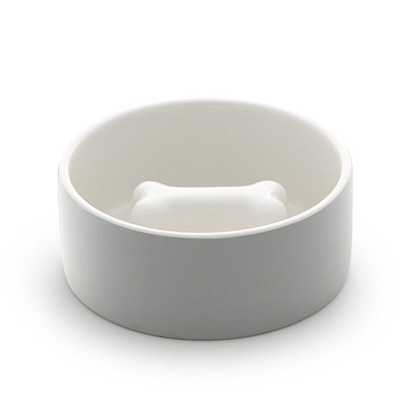 Naturally Cooling Dog Food Bowl Concrete - le-pet-luxe