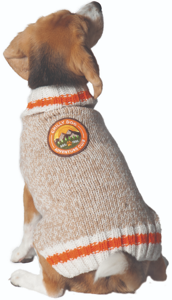 Adventure Club Patch Wool Dog Sweater - Le Pet Luxe