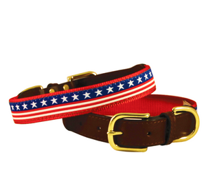 American Traditions Dog Collar - Stars & Stripes - Le Pet Luxe