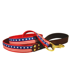 American Traditions Dog Leash - Stars & Stripes - Le Pet Luxe