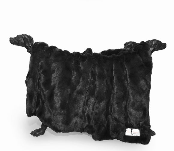 Bella Dog Blanket ~ Black - Le Pet Luxe