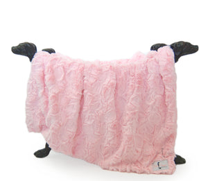 Bella Dog Blanket ~ Baby Pink - Le Pet Luxe