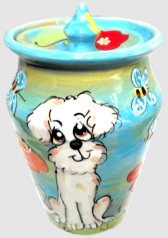 Bichon Dog Urn