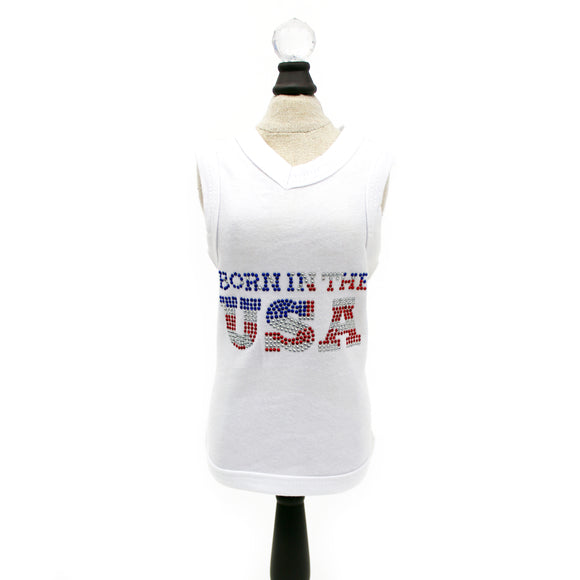 Born in the USA Dog Tank - Le Pet Luxe