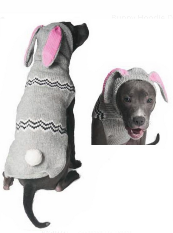 Characters ~ Bunny Hoodie Dog Sweater - Le Pet Luxe