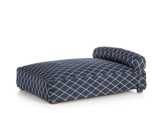 Contempo Slipcover Dog Bed ~ Navy Screen - Le Pet Luxe