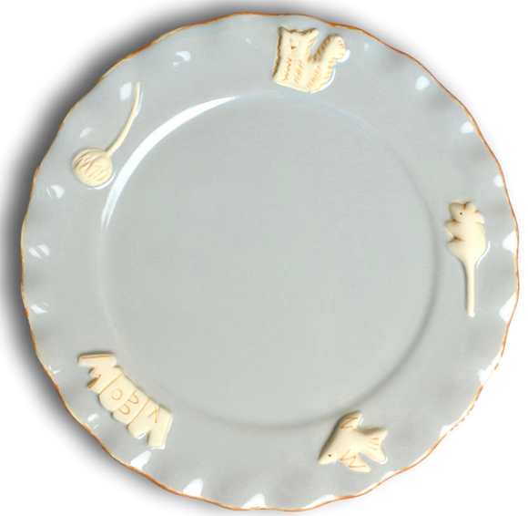 Cat Whisker Plate - French Grey - Le Pet Luxe