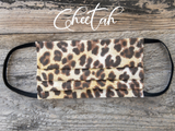 Reusable Fabric Face Mask with Pocket for Filter ~ Cheetah - Le Pet Luxe