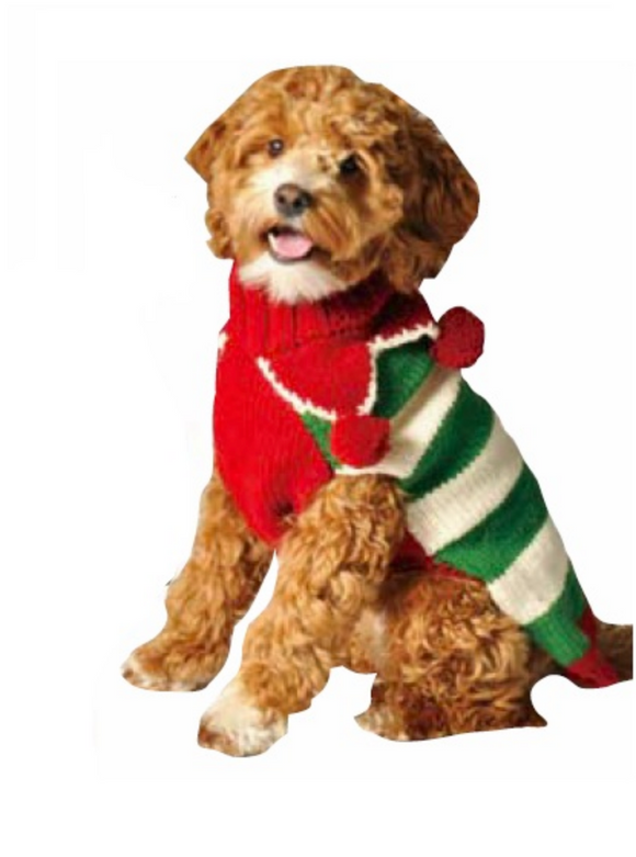 Christmas Elf Holiday Dog Sweater - Le Pet Luxe
