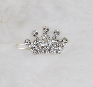 Crystal Crown Barrettes ~ Crystal - Le Pet Luxe