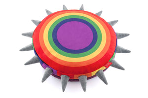 Rainbow Spiked Dog or Cat Bed - Le Pet Luxe
