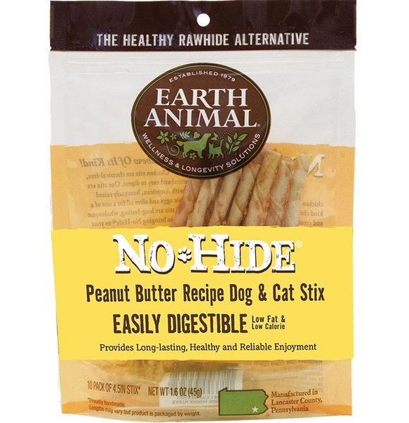 Earth Animal No Hide Peanut Butter Dog and Cat Stix - 10 Pack - Le Pet Luxe