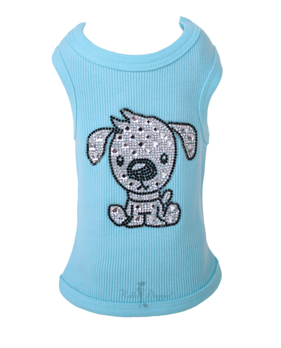 Doggie Dog Tank ~ Blue - Le Pet Luxe