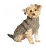 Cable knits ~ Grey Cable Knit Wool Dog sweater - Le Pet Luxe
