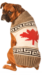 Grey Canadian Maple Leaf Dog Sweater - Le Pet Luxe