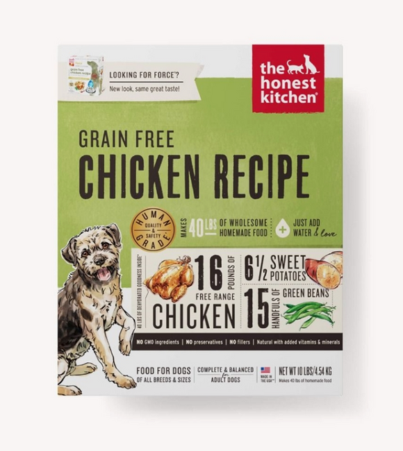 Honest Kitchen Dog Grain Free Chicken 10 Lbs. Box - Le Pet Luxe