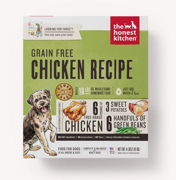 Honest Kitchen Dog Grain Free Chicken 4 Lbs. Box - Le Pet Luxe