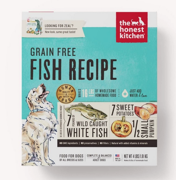 Honest Kitchen Dog Grain Free Fish 4 Lbs. Box - Le Pet Luxe