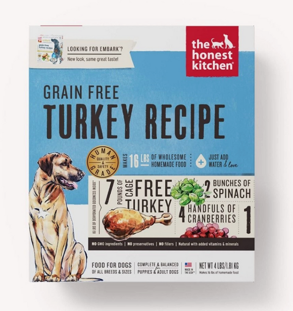 Honest Kitchen Dog Grain Free Turkey 4 Lbs. Box - Le Pet Luxe
