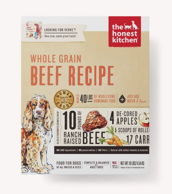 Honest Kitchen Dog Whole Grain Beef 10 Lbs. Box - Le Pet Luxe