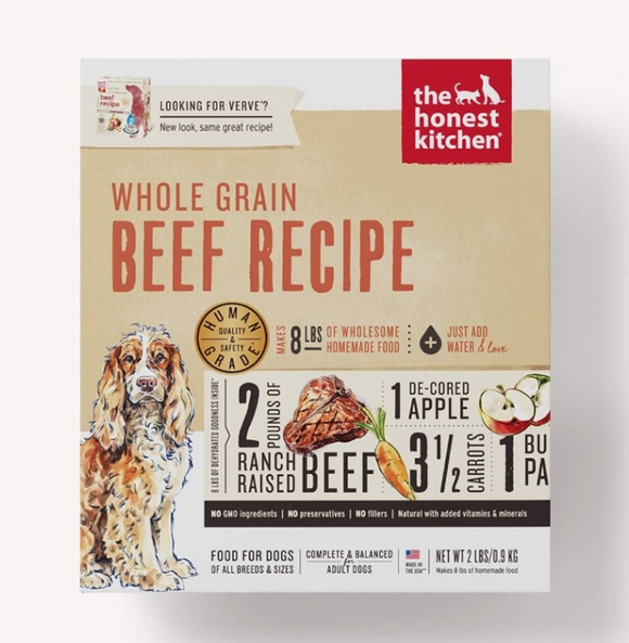 Honest Kitchen Dog Whole Grain Beef 2 Lbs. Box - Le Pet Luxe