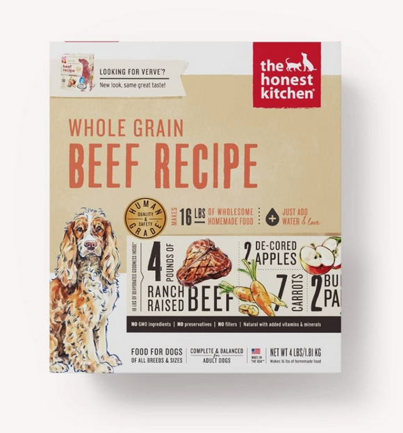 Honest Kitchen Dog Whole Grain Beef 4 Lbs. Box - Le Pet Luxe