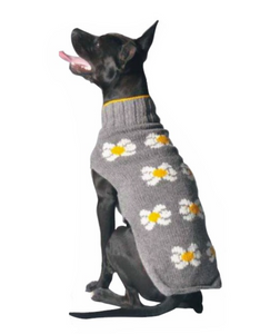 Hand Knit Wool Daisy Dog Sweater - Le Pet Luxe